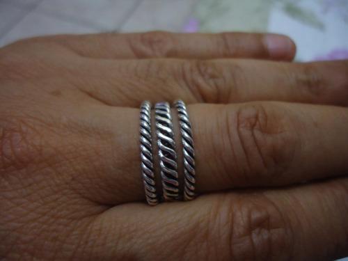 anéis trançados- estilo pandora - prata de lei
