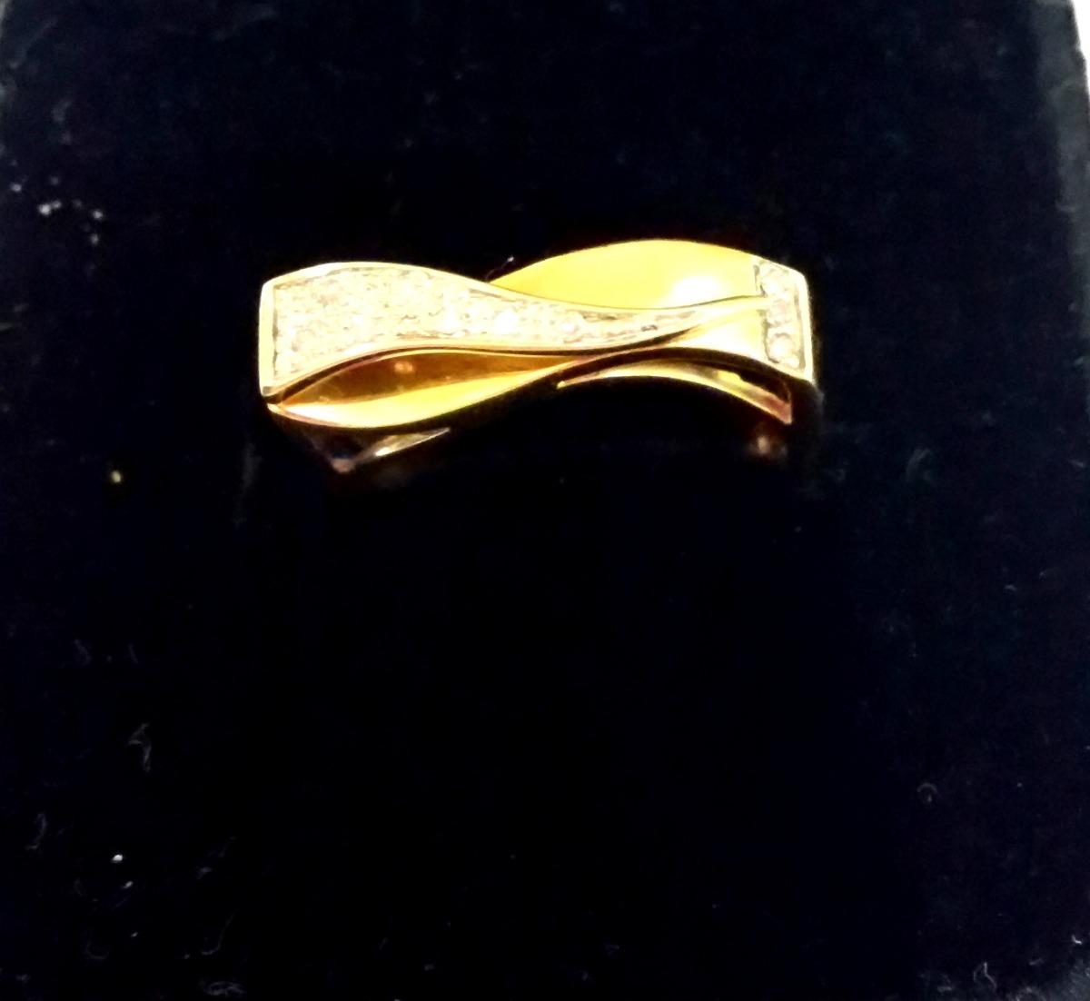 963f266fa23 Anel 10 Diamantes 18k 750 Original Ouro Mesmo Lindo - R  11
