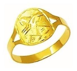 anel 1.8gr aliança escrava egito trabalhado 1.1mm ouro 18k
