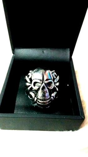 anel aço caveira garras skull aro22 frete grátis