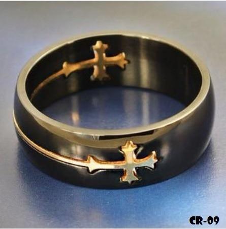 anel aço inox cruz gospel pastor bíblia igreja padre bispo