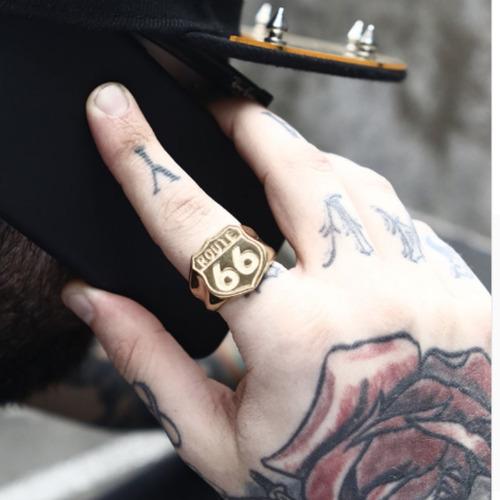 anel aço inox ouro 18k hip hop moto punk lxbr a109b