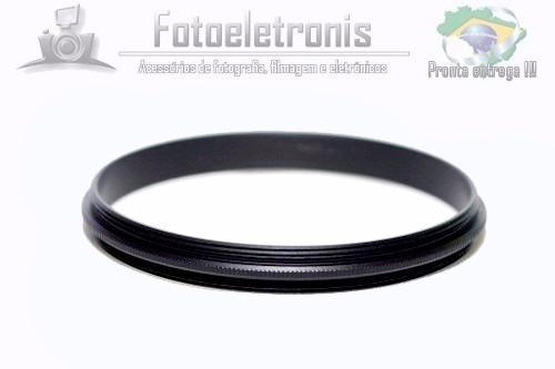 anel adaptador rosca macho 49mm - macho 52mm