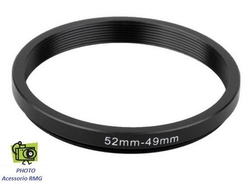 anel adaptador step dow 52mm - 49mm
