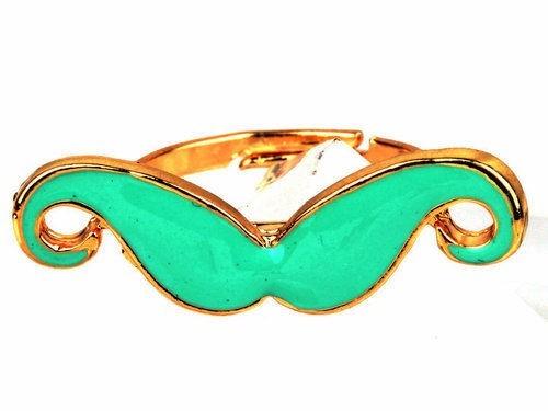 anel ajustavel dourado com bigode vere