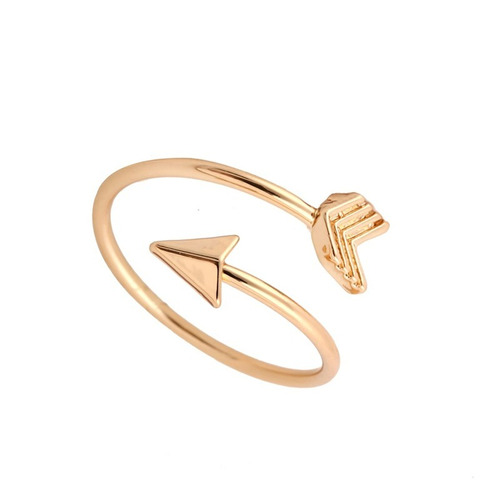 anel ajustável flecha dourado ouro