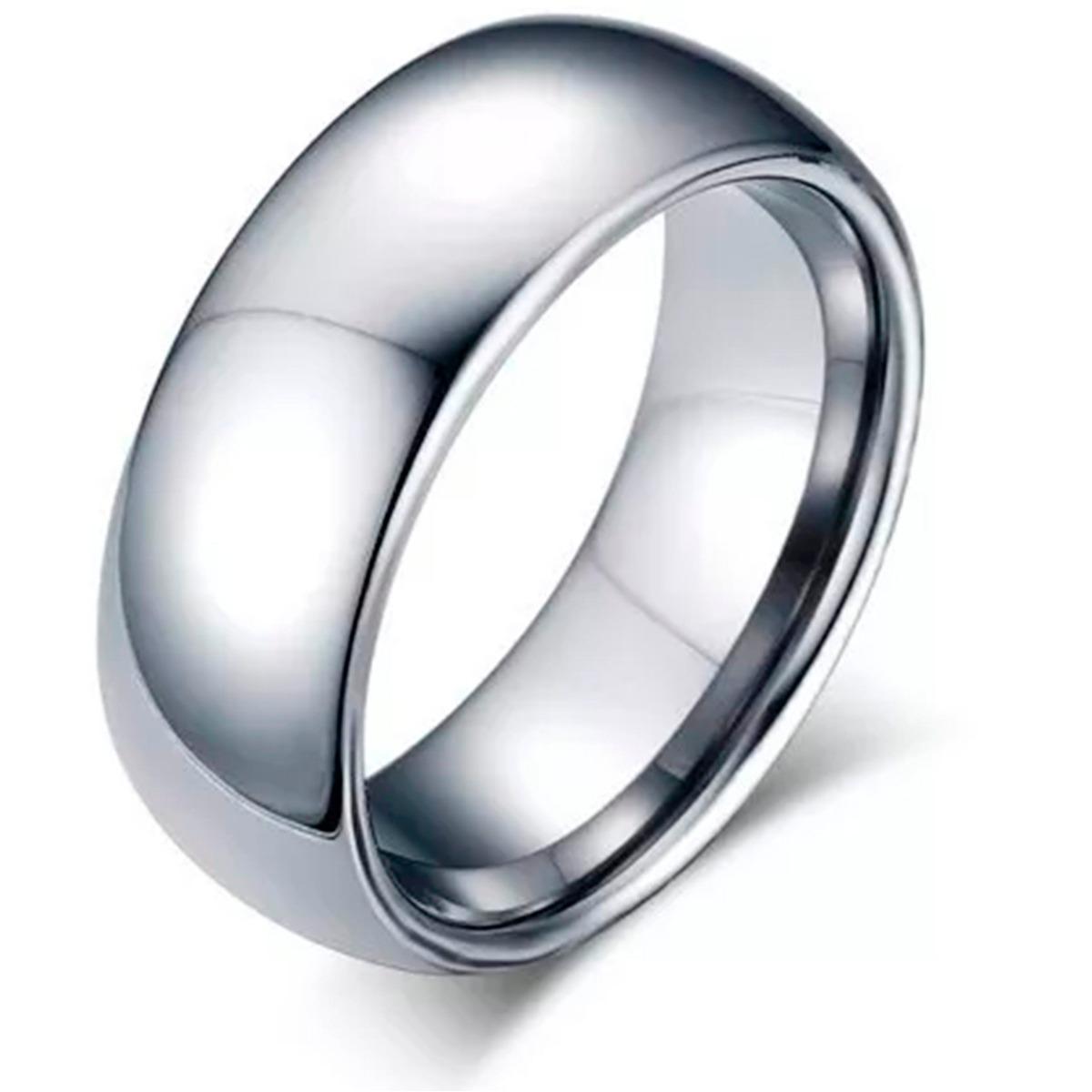 0a6432af481 anel aliança aço inox prata 8mm compromisso namoro anatômica. Carregando  zoom.