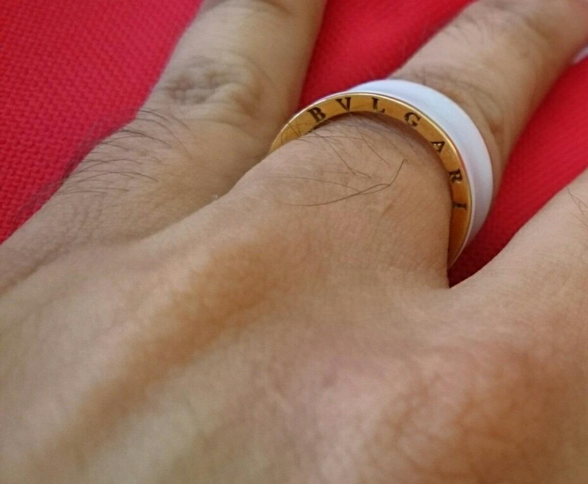 anel aliança bvlgari b.zero ouro cerâmica unica no brasil. Carregando zoom. 36b32369ca