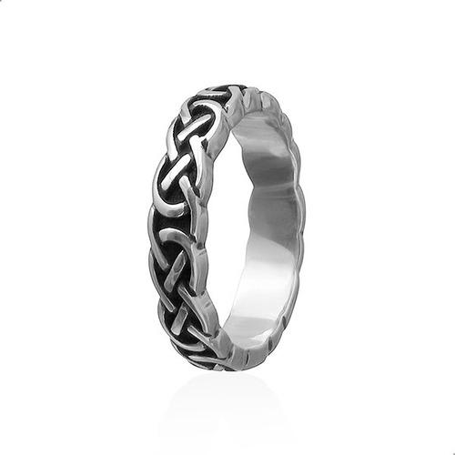 anel aliança celta no infinito prata 925 fp - 11055401