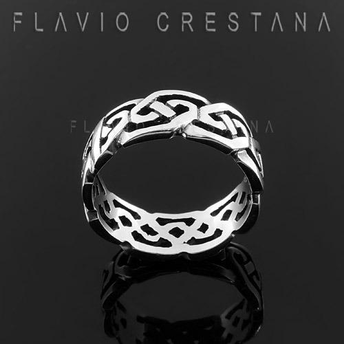 anel alianca celta, prata 925. fabricacao propria - 11028001