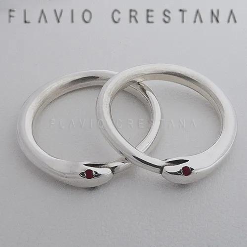 anel aliança cobra oroboros granada prata 925 fp - 11054704