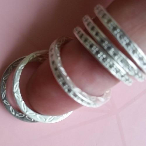 anel aliança com zirconia estilo pandora prata 925