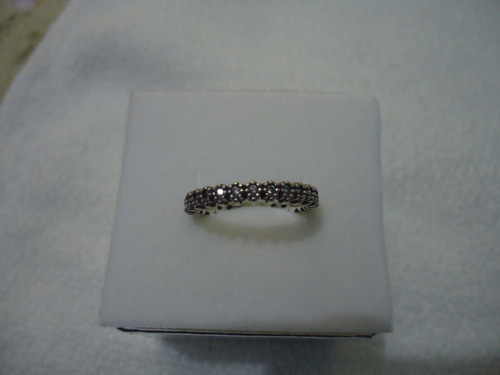 anel aliança cravejada estilo pandora-prata de lei