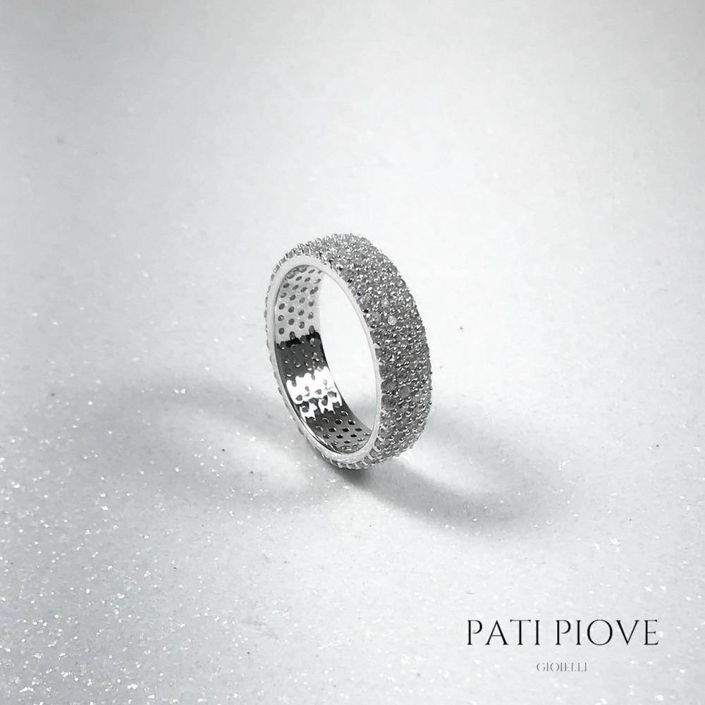 eec6b593969a8 anel aliança inteira prata 925 zircônia ródio 4 volta 18 m14. Carregando  zoom.