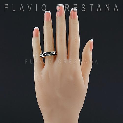 anel alianca ondas, prata 925. frabricacao propria - 1106150