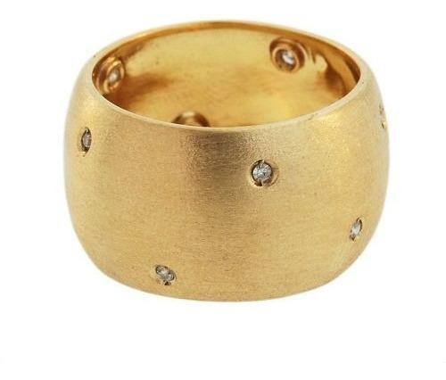 anel aliança ouro 18k com diamantes (polida) mod. cj1084