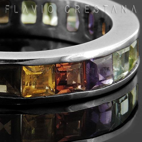 anel alianca, pedras naturais, prata 925. fabricacao propria