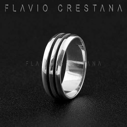 anel aliança prata 925 com dois cortes oxidados. fabricacao
