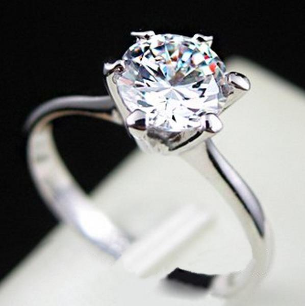 5c3b5490f49b0 Anel Aliança Solitário Banho Ouro Branco 18k Diamante Aro 21 - R  89 ...
