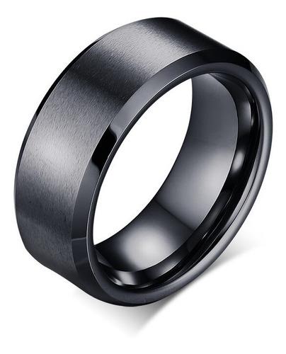 anel aliança titânio casual moda 8mm