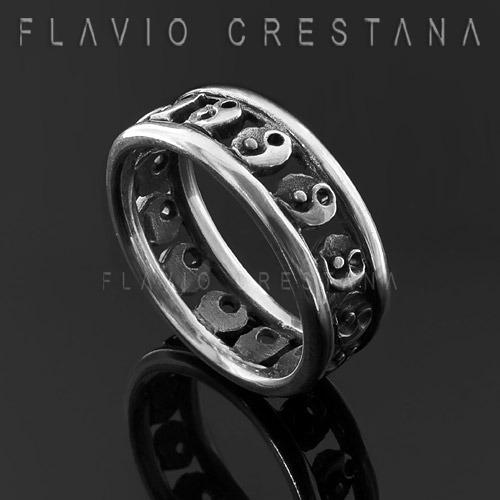 anel alianca ying yang, tao, prata 925, fabricacao propria -