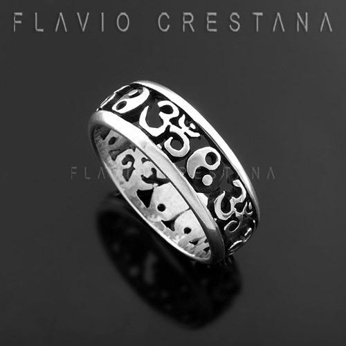 anel alianca yng yang, tao om, prata 925, fabricacao propria