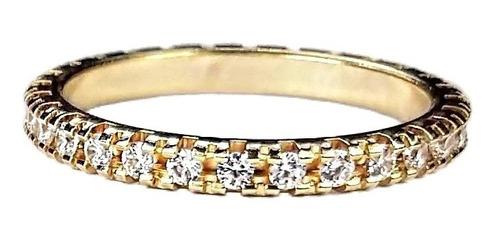 anel aparador de aliança banhado a ouro 18 k 1 peças