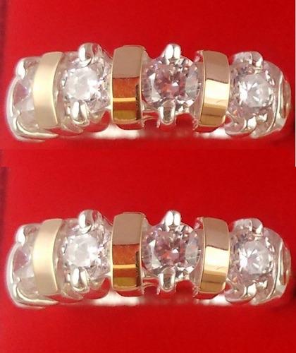 anel aparador de aliança ouro puro e prata pura com garantia