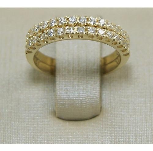 anel aparador de aliança par banhado a ouro 18 k 2 peças