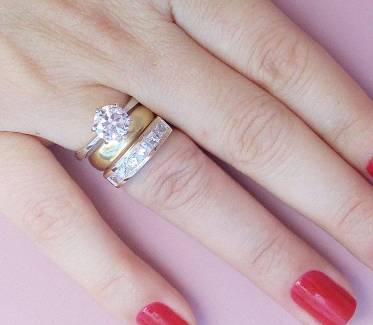 anel aparador de aliança prata 950 com solitário pedra 8mm. Carregando zoom. eb83209201