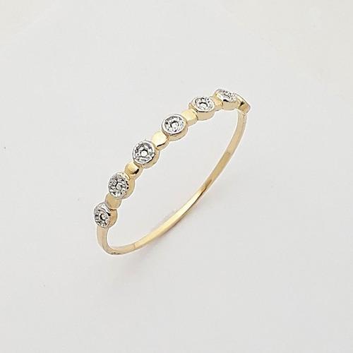 anel aparador fino em ouro  18k 750
