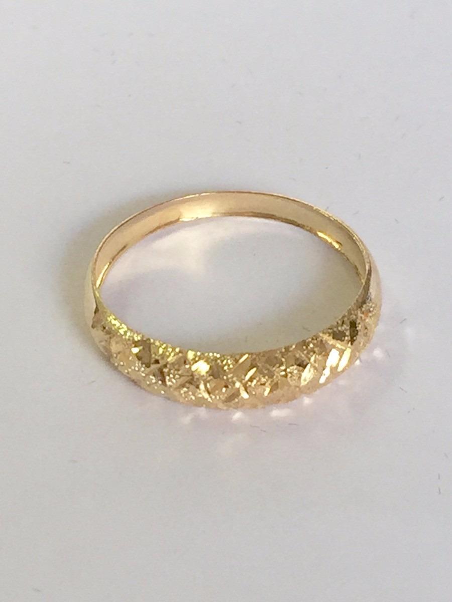 1b4fab77ae7 Anel Aparador Trabalhado Diamantado Ouro 18k 750 - R  315