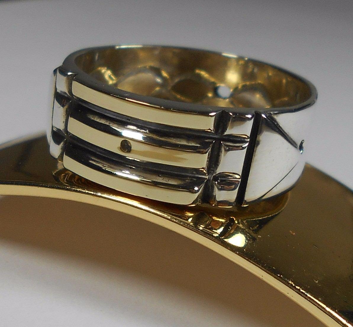 0f72be180c49c anel atlantis egpicio luxor com ouro e prata infinito lindo. Carregando  zoom.