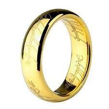 anel banhado a ouro 18k senhor dos anéis anatomico