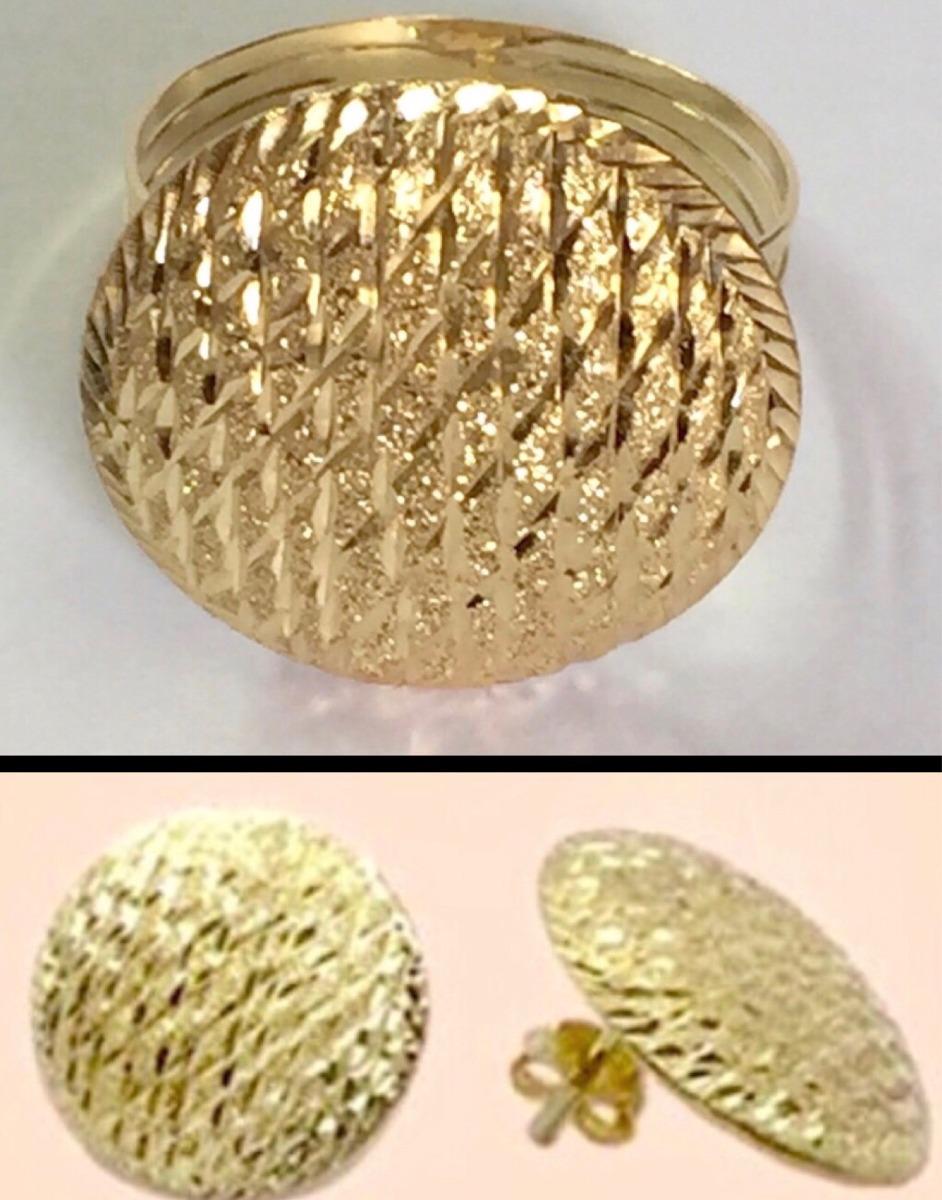 anel bola e brinco bola diamantado ouro 18k 750. Carregando zoom. 8eeb5e5f38096