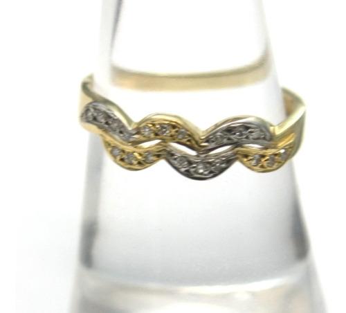 anel brilhantes diamantes ouro branco amarelo 18k 750 d160