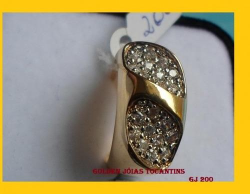 anel c/ brilhante mais barato folheado a ouro gj 200