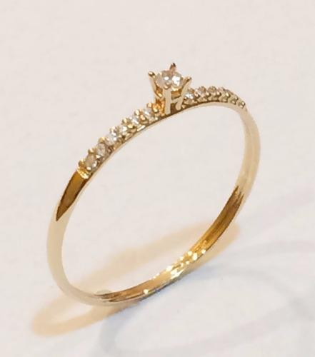 anel calice solitario em ouro 18k,frete grátis