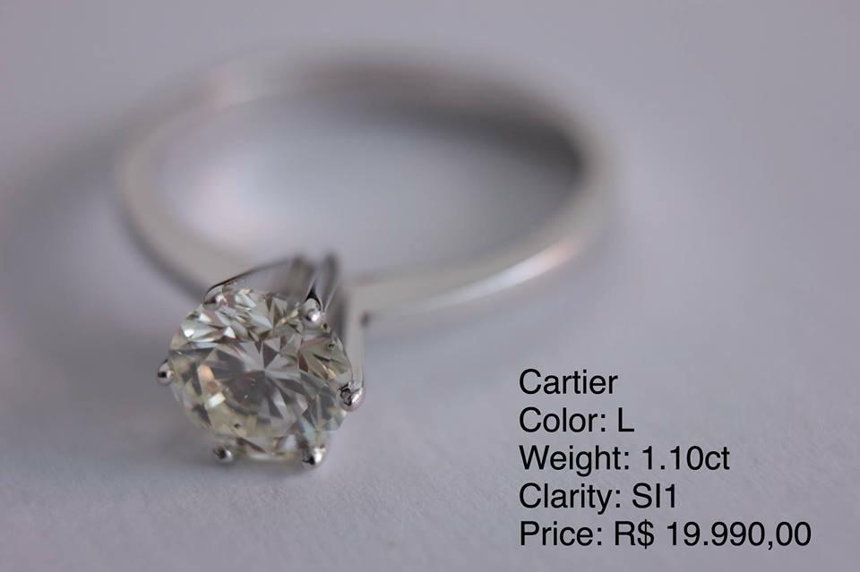 c69b5617d1a Anel Cartier Diamante   Ouro 1.10ct - Modelo Luxo - R  19.990