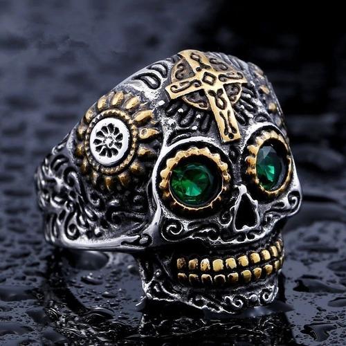 anel caveira aço
