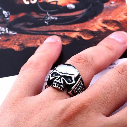 anel caveira c/inscrição hd nas laterais