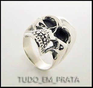 anel caveira - crânio esqueleto em prata - tudo_em_prata