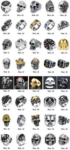 anel caveira em aço inox 40 modelos (harley, dj, moto)