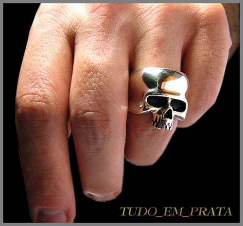 anel caveira keith richards, segunda versão, em prata