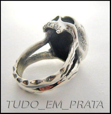 anel caveira kranion mod.2 em prata