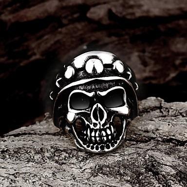 anel caveira lider dos motoqueiros titanio/liga : 19 ao 28