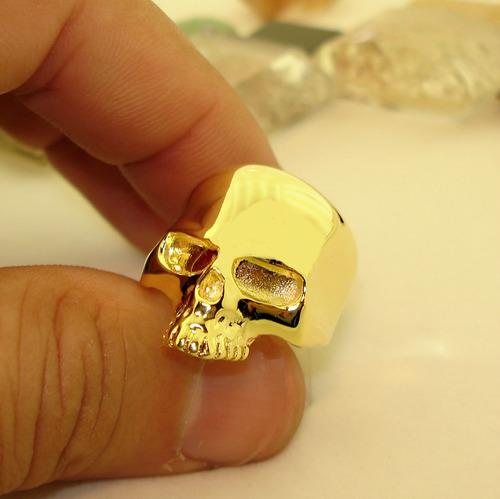 anel caveira ouro