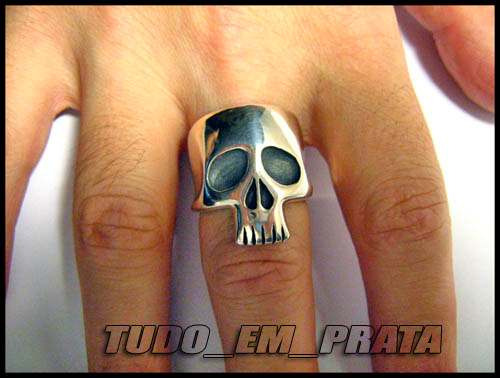 anel caveira phantom, fantasma em prata