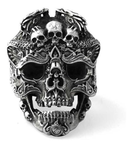 anel caveira prata 925 original ajustável