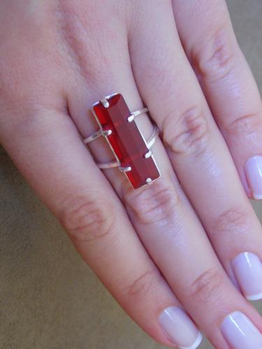 anel cereja - prata 925
